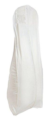 New White Breathable Wedding Bridal Dress Garment Bag (600GBB) (Garment Wedding Dress Bag compare prices)