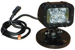 Infrared Led Light Emitter - Extreme Environment - Magnetic Base - 90'L X 70'W Spot Beam - 12 Watts(