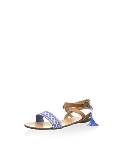 Springfield Sandale braun/blau
