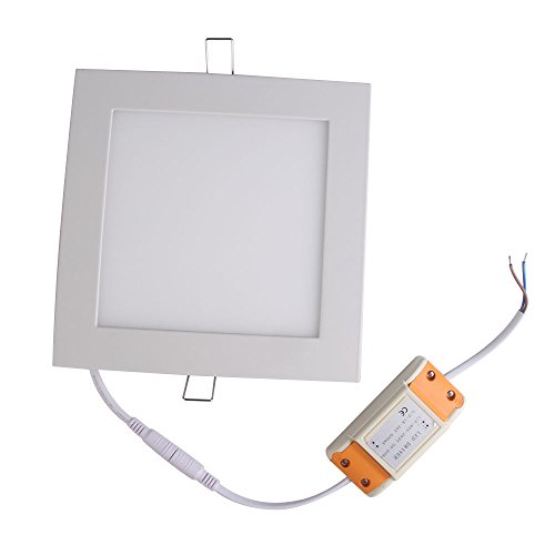 Vakind Super Bright 16W Led Thin Square Ceiling Panel Side Light Bulb Lamp (Pure White)