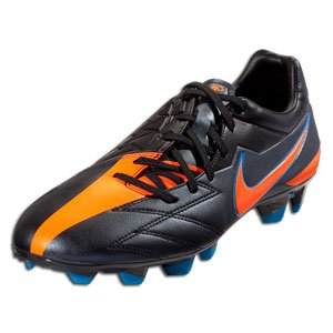 Nike Soccer Cleats: Nike T90 Strike IV FG - Black/Total Orange/Blue Glow