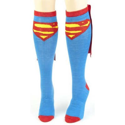 Superman Cape Knee High Socks