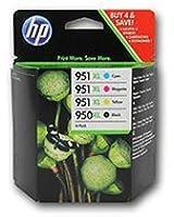 4 Cartouche d'encre pour Imprimante HP Officejet Pro 8600 - Cyan / Jaune / Magenta / Noir- Avec Puce