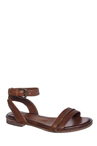 Phillip Seam Ankle Strap Low Heel Sandal