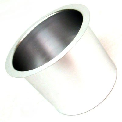10 Silver Aluminum Poker Table Cup & Bottle Drink Holders for Drop in Poker Tables