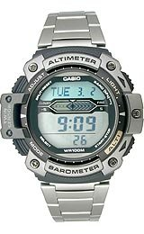 Casio Sports Gear Twin Sensor Altimeter/Barometer Thermometer Grey Dial Men's watch #SGW300HD-1AV