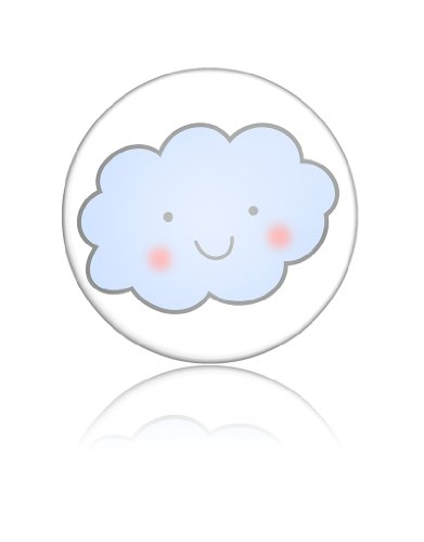Happy Cloud Funny Art Button Badge Cute Sky Smiles Gift Present Baby Shower Birthday front-901105