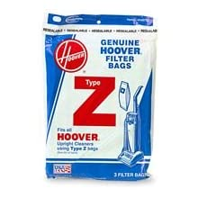Hoover Type Z Power Drive/Dimension Upright Vacuum Cleaner Replacement Bags, Package of 3