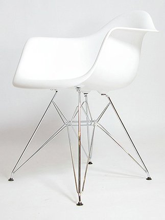 x4 Charles & Ray Eames Style DAR Eiffel Dining Lounge Chair (White) by Tacorite Furniture
