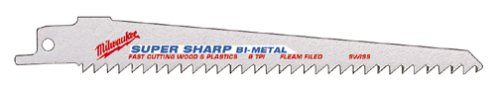 Milwaukee 48-00-5015 6-Inch Super Sawzall Blade 6 Teeth Per InchB00008Z9YN