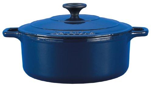 Chasseur Cast Iron Round Casserole Blue 22cm