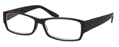 +1.50 Computer Reading Glasses Black Frame Flex Temples Anti Glare Lens Unisex Men Women +1.5