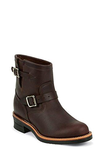 Chippewa 1901M52 stivaletti stivali in pelle marrone da uomo, oil-abbronzato cordovano con suola Vibram V-Bar in sughero, Marrone (marrone), 12,5 US-46 EU