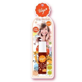 Uthaitip Utip Herbal Tint Lip Color & Cheek Natural Orange With Vitamin B3 & B5 Amazing Of Thailand