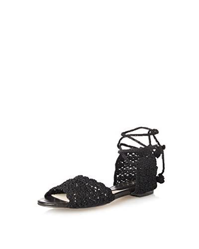 ALL BLACK Women's Crochet Lady Sandal