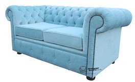 Chesterfield Canapé 2 places en tissu offre Velluto canard