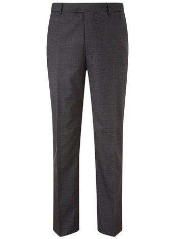 Austin Reed Contemporary Fit Charcoal Wool Trousers REGULAR MENS 34