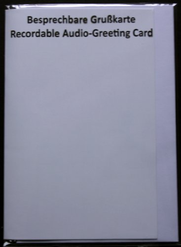 Recordable Audio Greeting Cards (Message Length: 120 Seconds) White