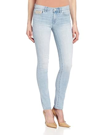 Calvin Klein Jeans Women's Ultimate Skinny Ankle Jean, Light Wash, 2