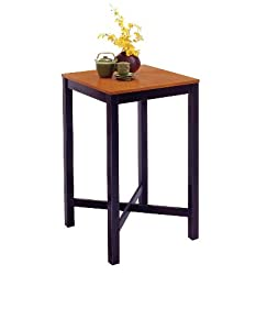Home Styles 5982-35 Bar Table with Veneer Top, Black Finish