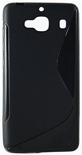 Xiaomi Redmi 2 / Redmi 2s Back Cover / Case - Premium Flexible S-Line TPU - Black : by Cool Mango (TM)
