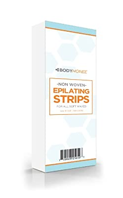 "Cheapest Non-woven Hair Removal Waxing Strips, 100 Pack (3""x9"") by BodyHonee - Free Shipping Available"