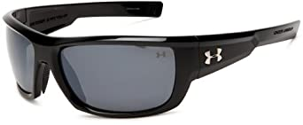 Under Armour Rumble Shiny Black Frame, with Black Rubber, and Gray Polarized Multiflection Lens