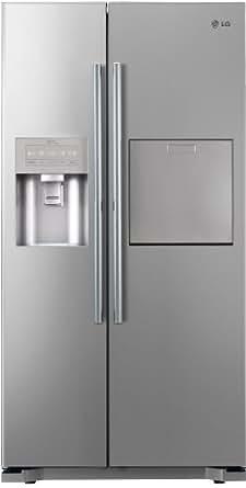 LG GS5162PVMV1 Side-by-Side Kühl-Gefrier-Kombination (A+, Kühlen 365 L, Gefrieren 173 L, Eis-, Crushed Ice- und Wasserspender, LED Innenbeleuchtung) premium platinum