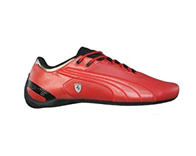 Puma Future Cat M2 SF Ferrari Mens Leather Trainers / Shoes - Red - SIZE UK 5