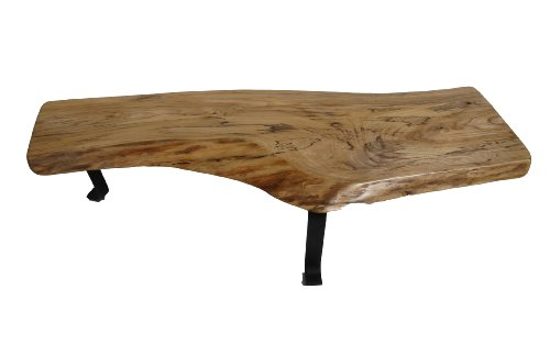 Sustainably Harvested Live Edge / Natural Edge Slab Spalted Elm Wood Coffee Table / Bench