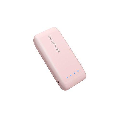 モバイルバッテリー RAVPower 6700mAh 急速充電 ポータブル充電器 (6700mAh 最小、最軽量/2016年9月末時点) iPhone / iPad / Galaxy / Xperia / タブレット / ゲーム機 等対応(iSmart2.0機能搭載)-桜ピンク