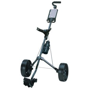 RJ Sports Two Wheeled Pull Cart, Silver/Black