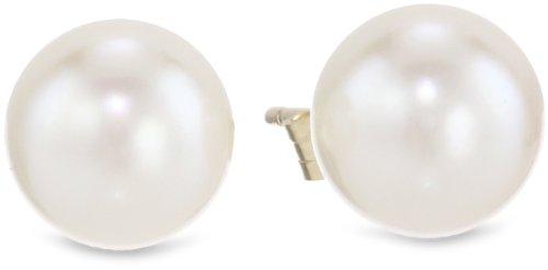 14k Yellow Gold Akoya Cultured Pearl Stud Earrings