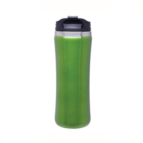 Cayman 18/8 Stainless Steel Double Wall Foam Insulated Travel Tumbler - 14Oz. - Green front-934750