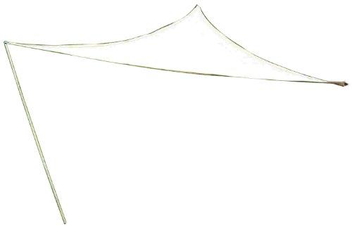 Coolaroo Quik'N EZ Triangle Shade Sail with Pole, Pebble, 9-Feet 10-Inch