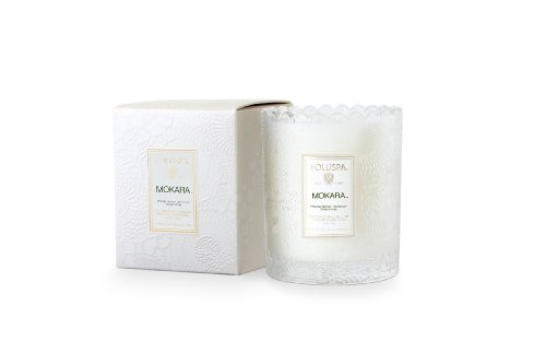 Voluspa Mokara - Scalloped Edge Glass Candle