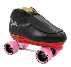 Skate Out Loud Riedell 965 Sunlite Rockstar Derby Skates | Toe Stop Color: Red | Plate Color: Black | Size: 7.5