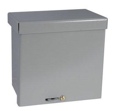 "Raco Screw Cover Box Rainproof 6 ""X6 ""X4 "" Gray Bulk"