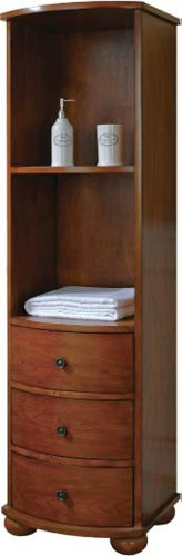 Picture of Xylem LT-CARLTON-18BN 18-Inch Carlton Linen Tower, Antique Maple B003ZHTOSY (Xylem)