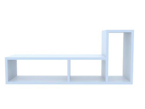 TemaHome Domino Regal mit 3 Fächern – beliebig erweiterbar in glattweiss – Matt lackiert online kaufen
