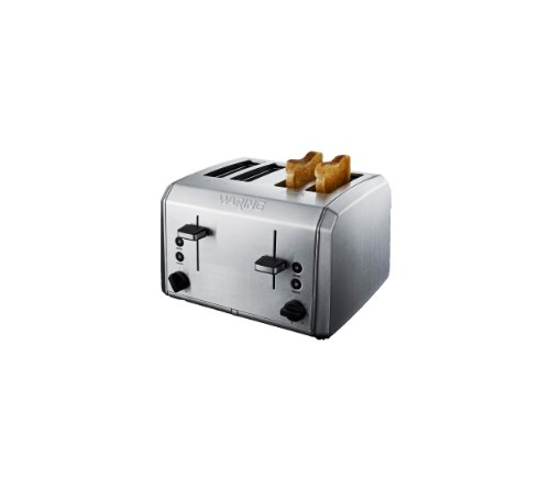 Waring 4 Slice Toaster, Brushed Stainless Steel by Waring