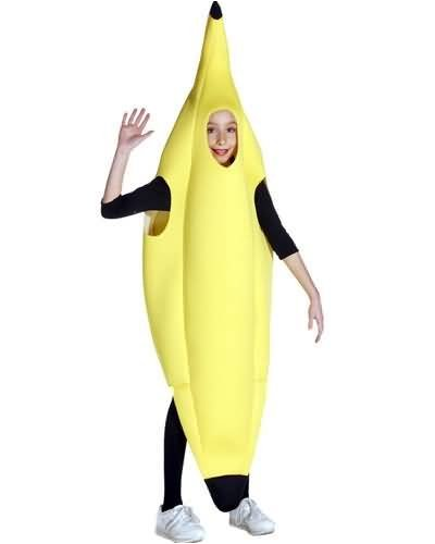 Full (not light weight short version) Kids Banana Costume