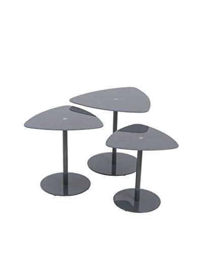 Eurostyle Sarafina Side Glass Tables, Gray