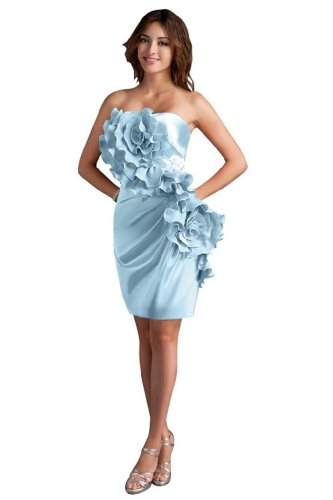 31G3357ECkL Sale off: Emma Y Lady Womens Strapless Handmade Flower Short Dress