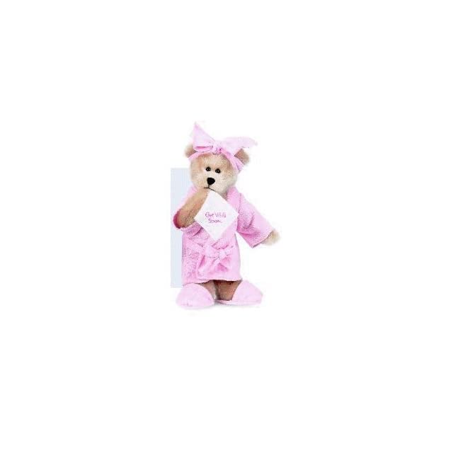 Ganz Get Well Bears 4in Pink Teddy Bear Plush