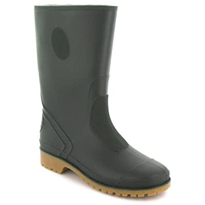 Childrens Green Long Leg Wellington Boots - Green - UK 10-5