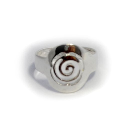 Sterling Silver Greek Spira Ring