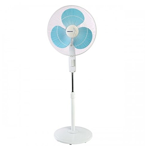 Orient Electric Stand-82 400mm Pedestal Fan (Crystal White/Sky Blue)