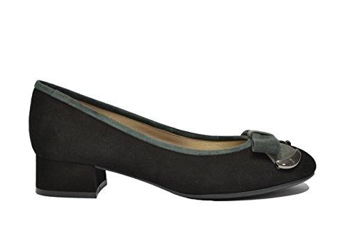 Melluso Decolte' ballerine nero scarpe donna elegante A376