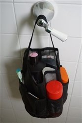 Black Mesh Tote Shower Bag
